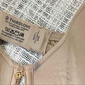 ThirdLove Intimates & Sleepwear - Thirdlove 34C Taupe Tan Lace Classic T-shirt Bra
